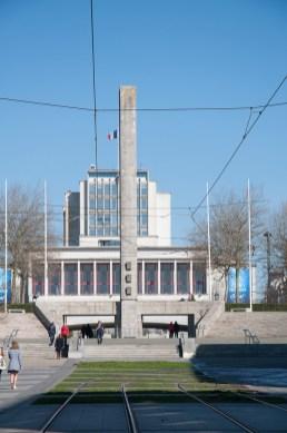Brest: la mairie, qui domine la ville
