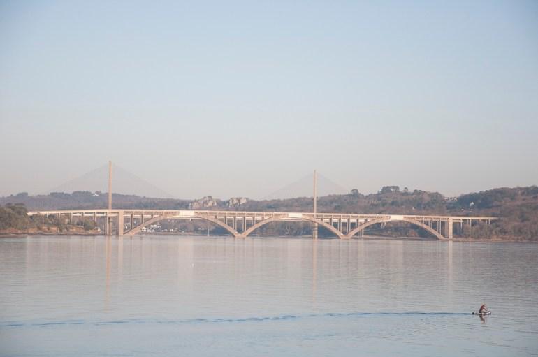 pont de l'Iroise, vers Plougastel