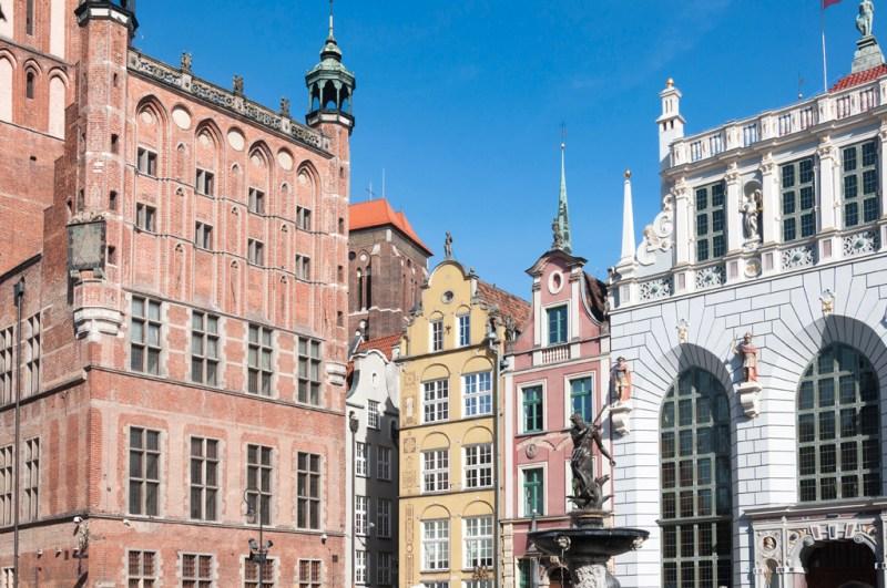 Gdansk : centre, fontaine Neptune