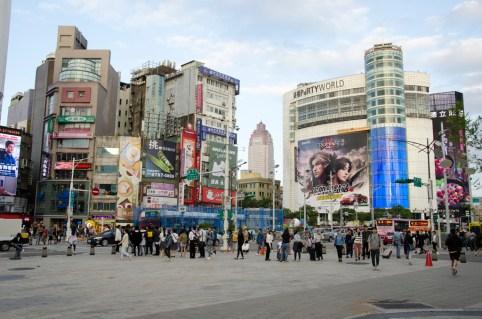 Taipei : quartier de Ximen