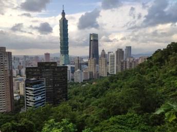 Taipei: le tour 101, vue depuis Elefant Mountain