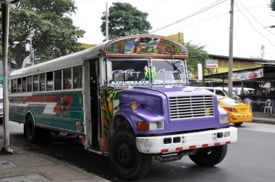 Les bus colorés de Panama city