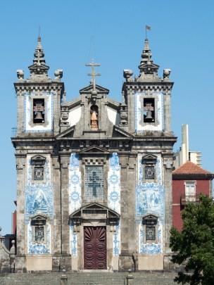 Porto: l'église près de notre hotel