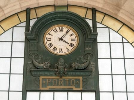 Porto l'horloge de la gare