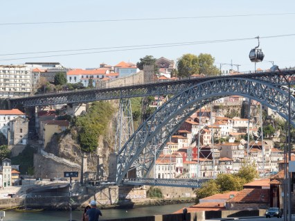 Porto: télépherique et pont vers Gaia