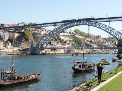 Porto: pont Dom Luis vers Gaia