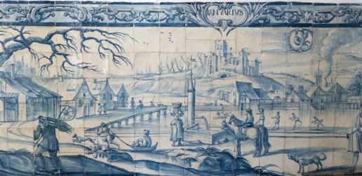 Azulejos dans l'Université d'Evora
