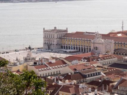 Lisbonne: place del Comercio