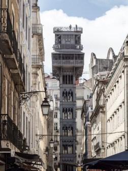 Lisbonne: Baixa ascenseur Santa Justa