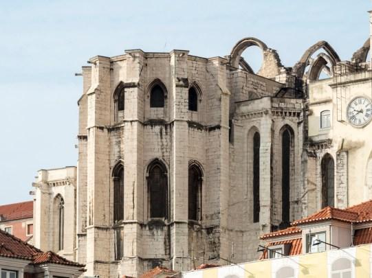 Lisbonne: couvent des Carme (Bairro Alto)