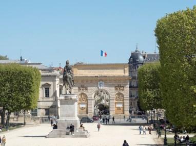 Montpellier-Peyrou et arc de Triomphe