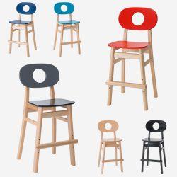 Hukit stol inkl. fodstøtte, højde 53 cm - Tilbud