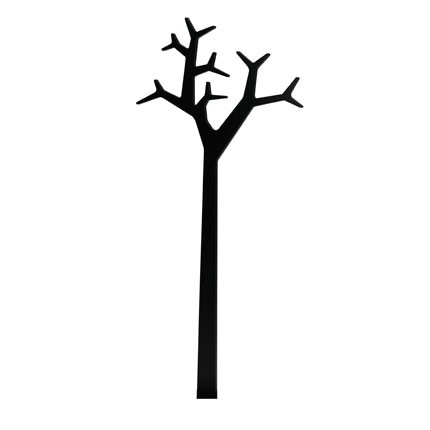 Tree stumtjener til væg - Sort
