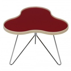 Swedese - Flower Table lille m. ege-kant - rød