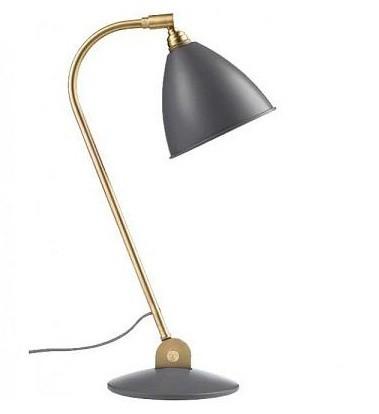 Bordlampe BL2, messing/grå - BestLite