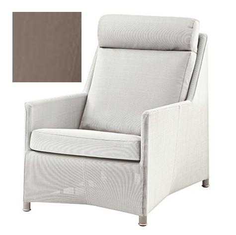 Diamond lounge highbackstol brun inkl. hynde - Cane-Line