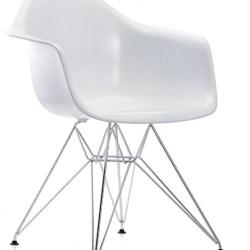 Eames Armstol (DAR) - Hvid