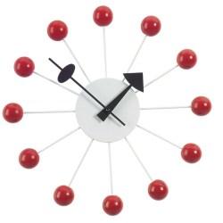Vitra - Ball Clock - Rød (vægur)