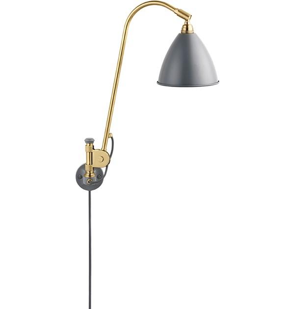 Bestlite BL6 væglampe grå/ messing