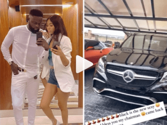 Designer Yomi Casual surprises wife, Grace with a Benz (video)