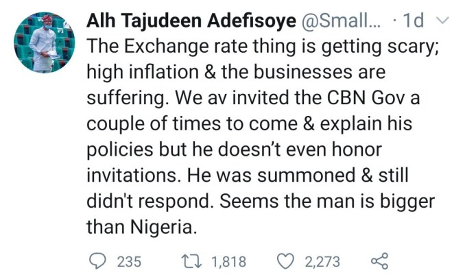 """""""This Naija politics hard"""" Ondo state House of Reps. member, Tajudeen Adefisoye says he should have gone into sports rather than politics as he complains about the state of the nation"""
