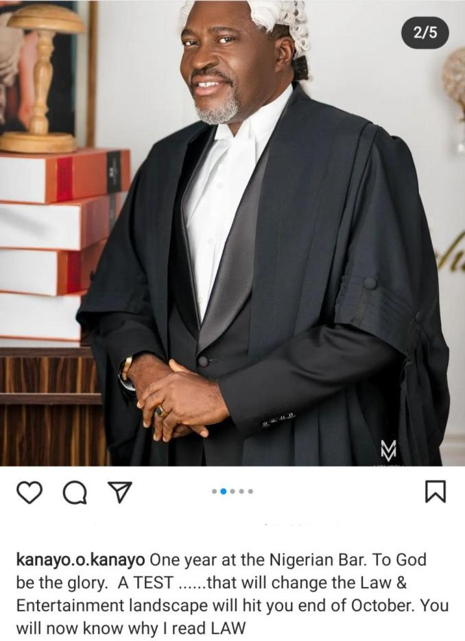 """""""By October you will know why I read law"""" Kanyo O. Kanayo says a """"test"""" that will change the law and entertainment landscape will hit by the end of October"""