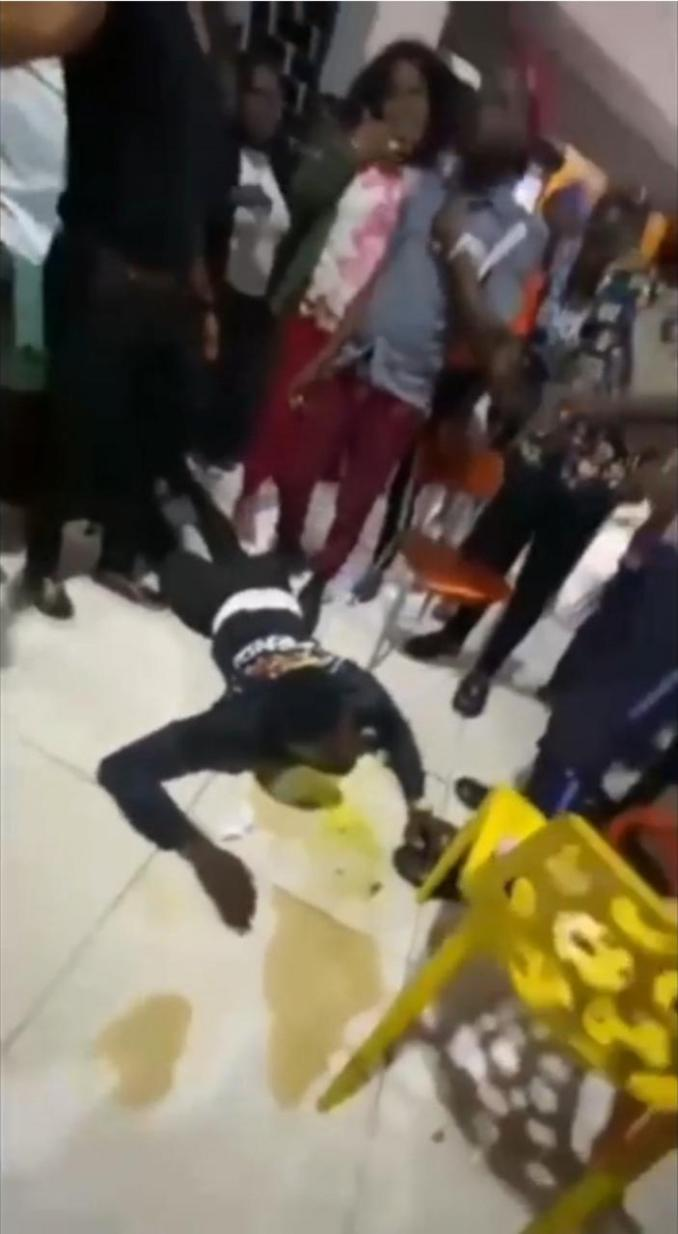 Man begins throwing up after he was forced to consume a friend