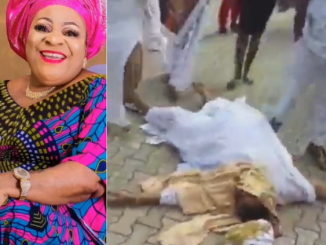 Actress Nkechi Sunday Blessing passes out at her mum