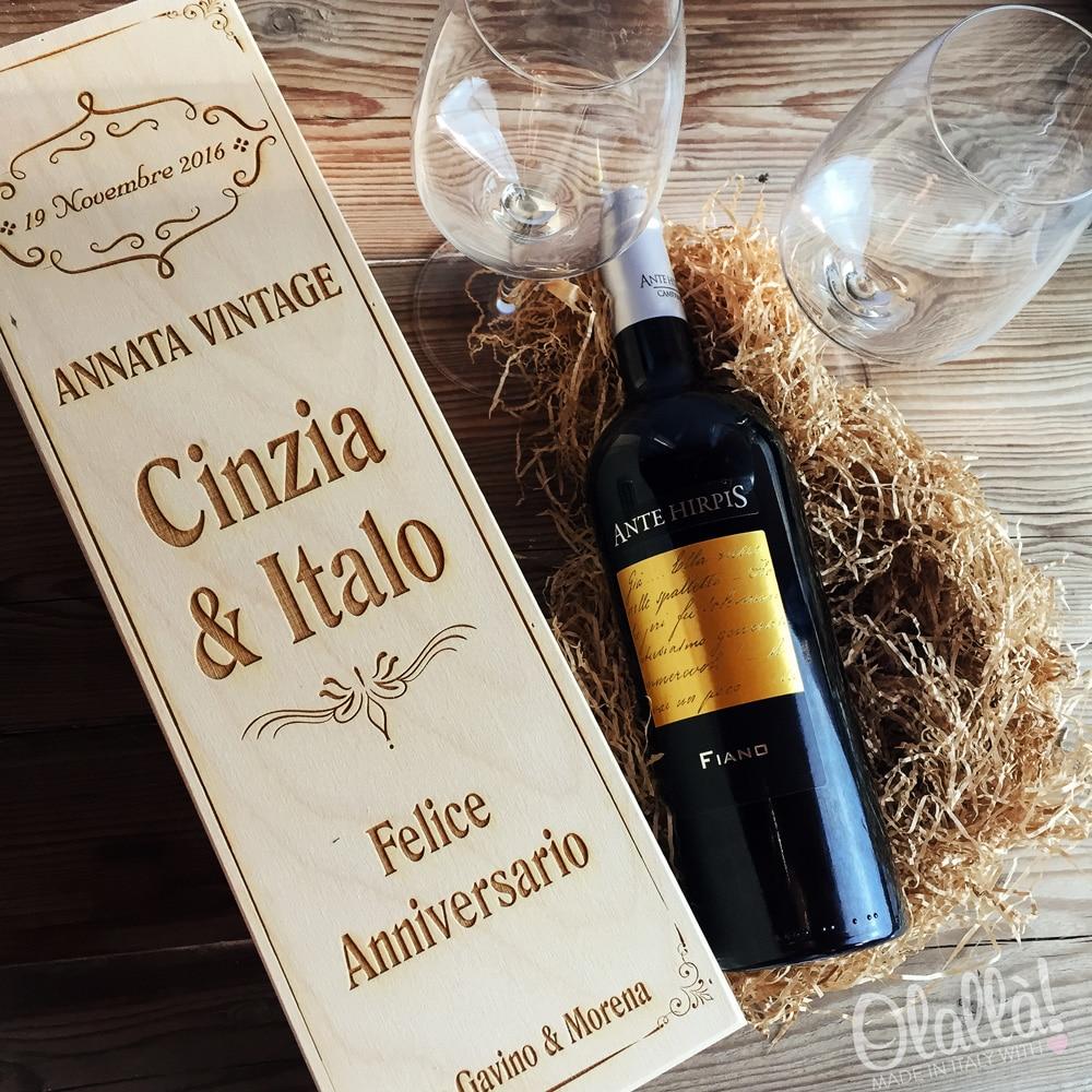Cassettina Porta Vino in Legno Personalizzata Idea Regalo