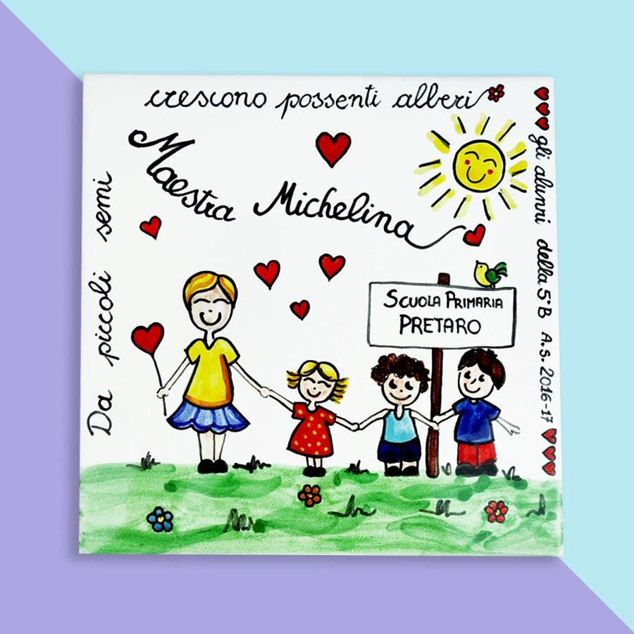Piastrella in Ceramica Personalizzata Regalo Maestra  Olalla