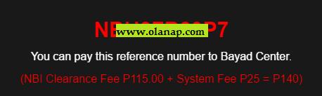 NBI Clearance Bayad Center payment