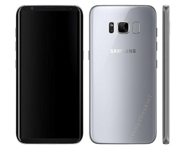 Samsung s8 silver variiant