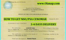 How to Get CENOMAR Online via PSA formerly NSO Philippines 3-4 days delivery