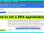 how to set a dfa appointment for your passport