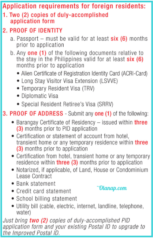 How to get Postal ID for OFW