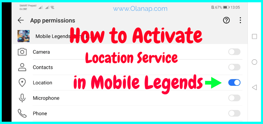 How to Activate Location Service in Mobile Legends | Olanap