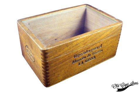 Cuban Glass top box PITA Hnos - Front side