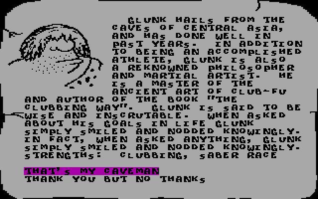 Caveman Ugh-lympics Download (1989 Sports Game)