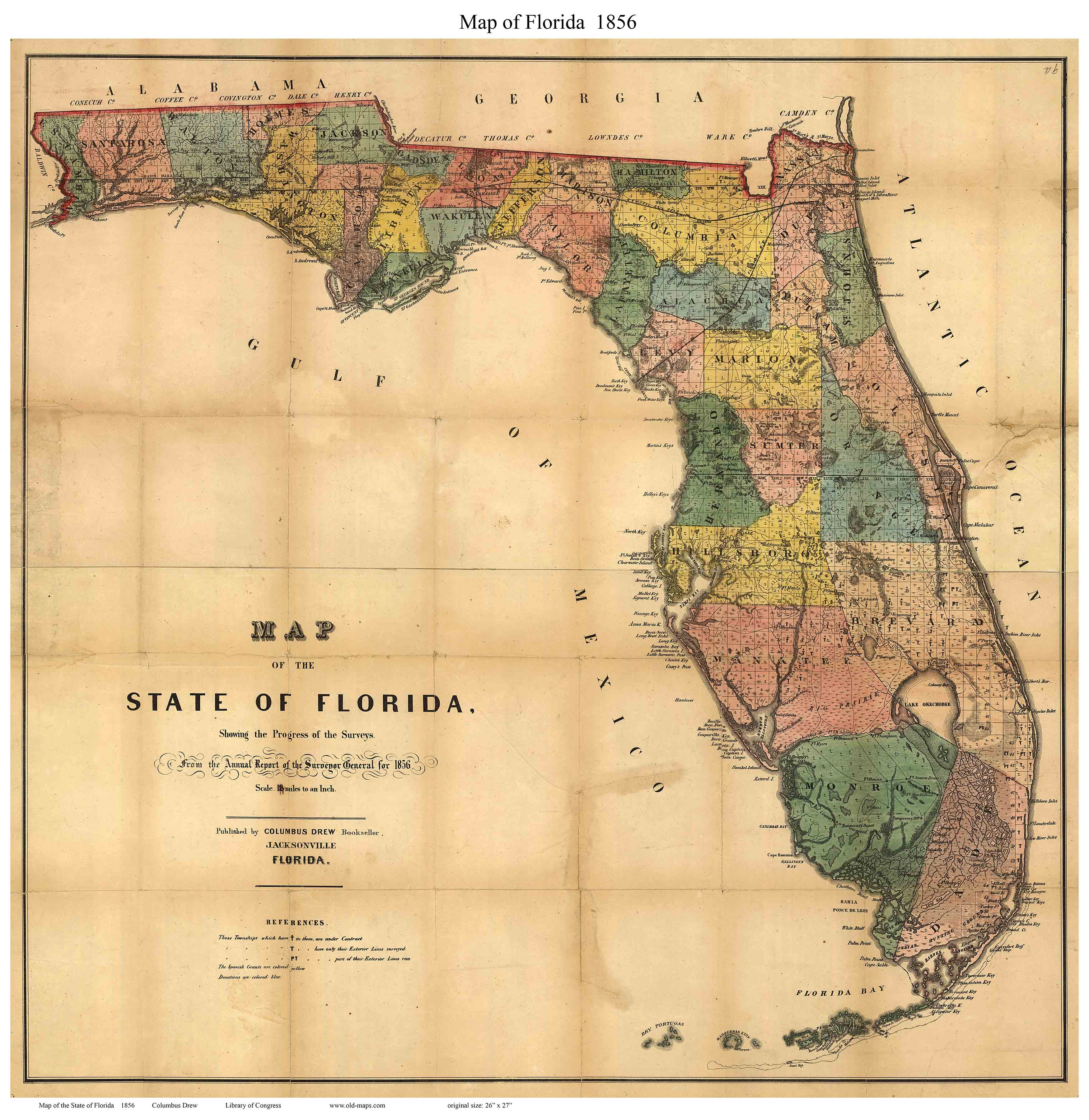 Old State Maps Of Florida