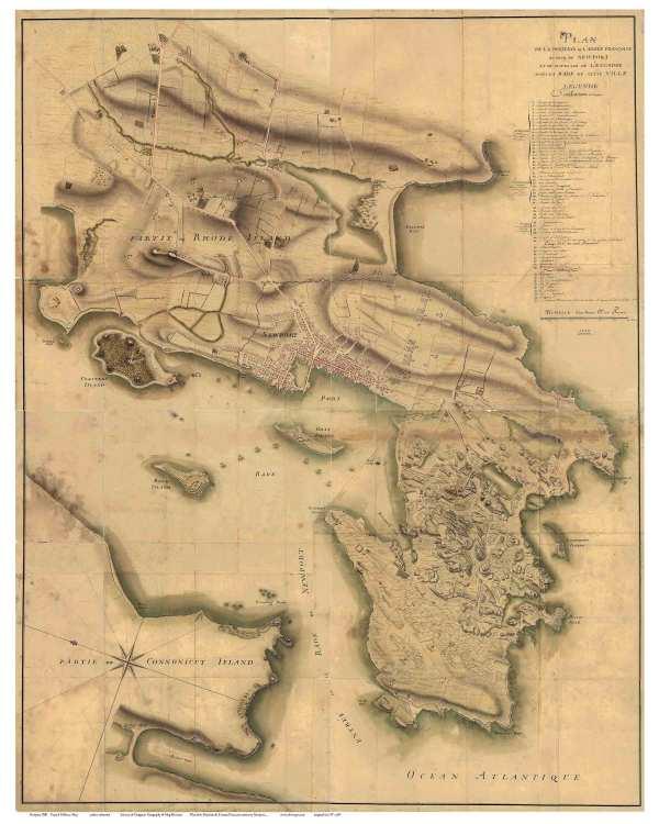 RI Newport Colonial Maps