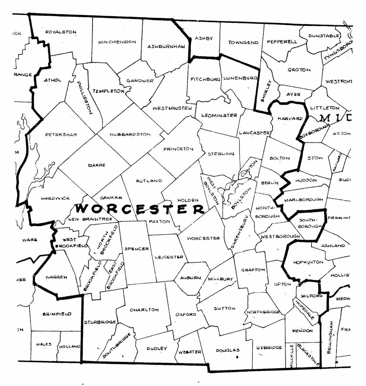 Massachusetts County Town Index List