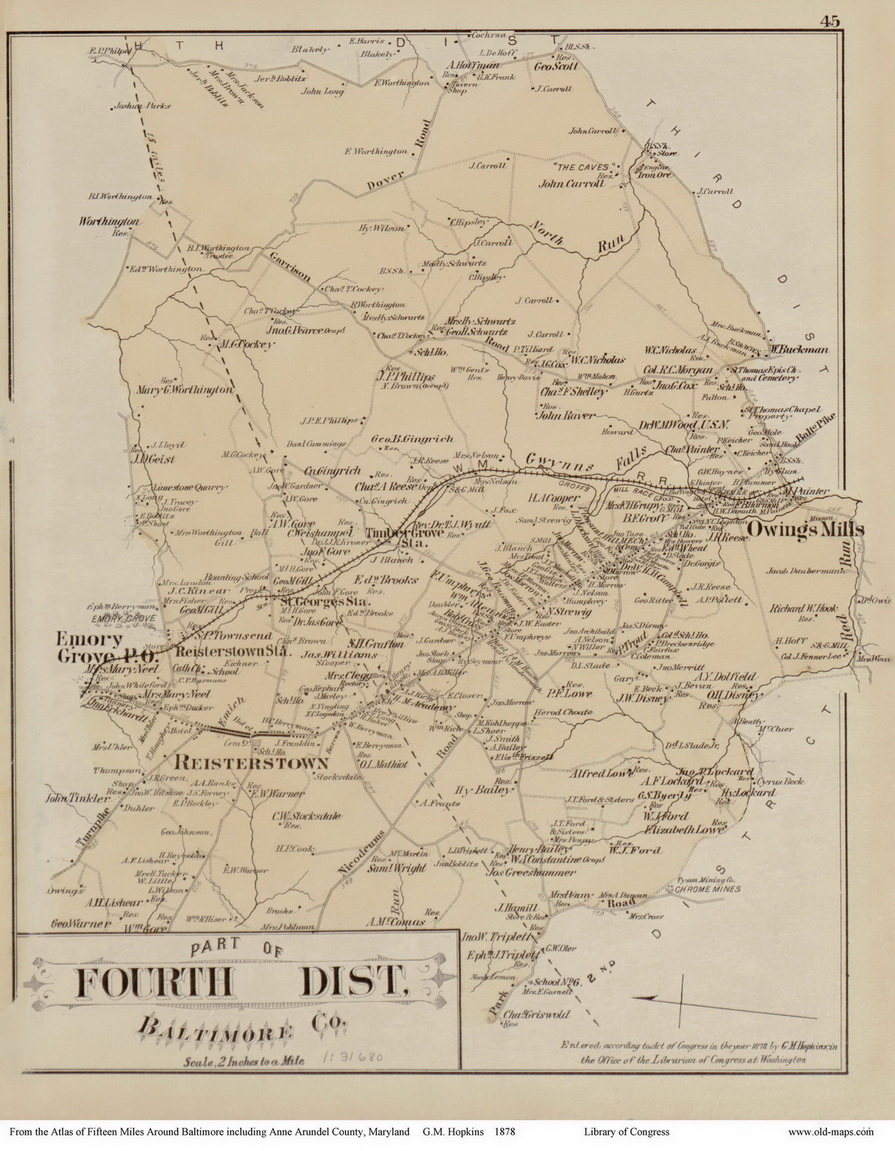 Anne Arundel County Map 1700