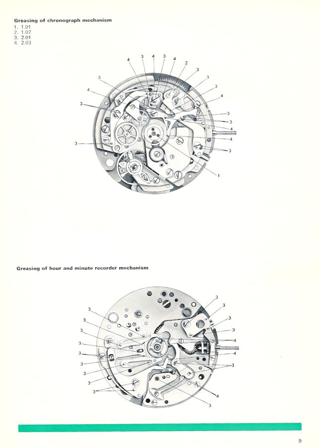 An English Service Manual for the Omega 1040 movement