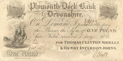 Note Issued By One of the Banks Affected by the 1825 Crisis