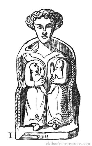 Gallo-roman statuette of Latona » Old Book Illustrations