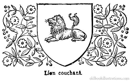 Heraldic lion » Old Book Illustrations: pictures scanned