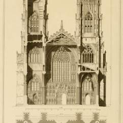 Diagram Of Gothic Church Porsche 964 Radio Wiring York Cathedral, Elevation And Section – Old Book Illustrations