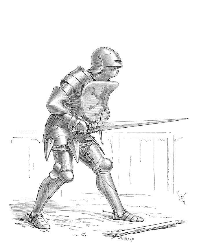 Soldier Wearing Plate Armor