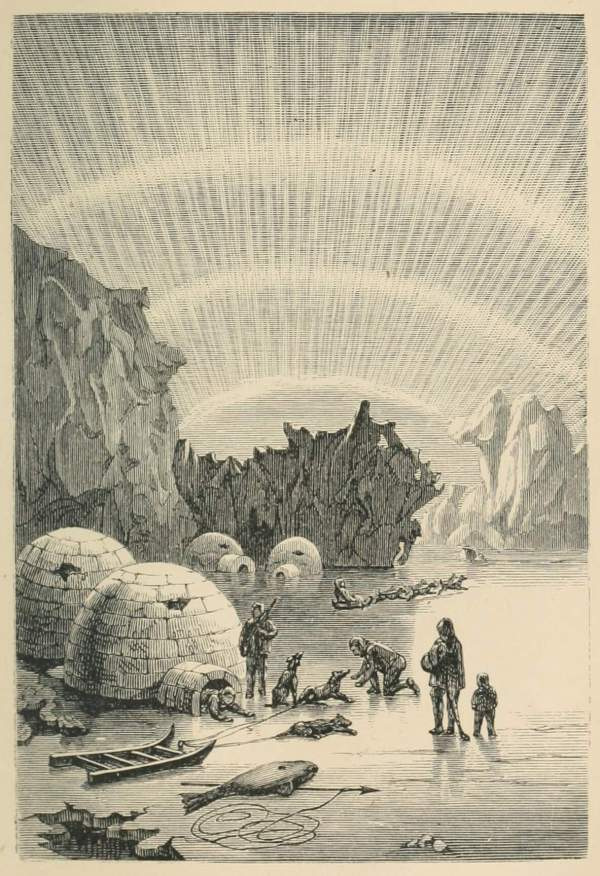 Eskimo Village Book Illustrations