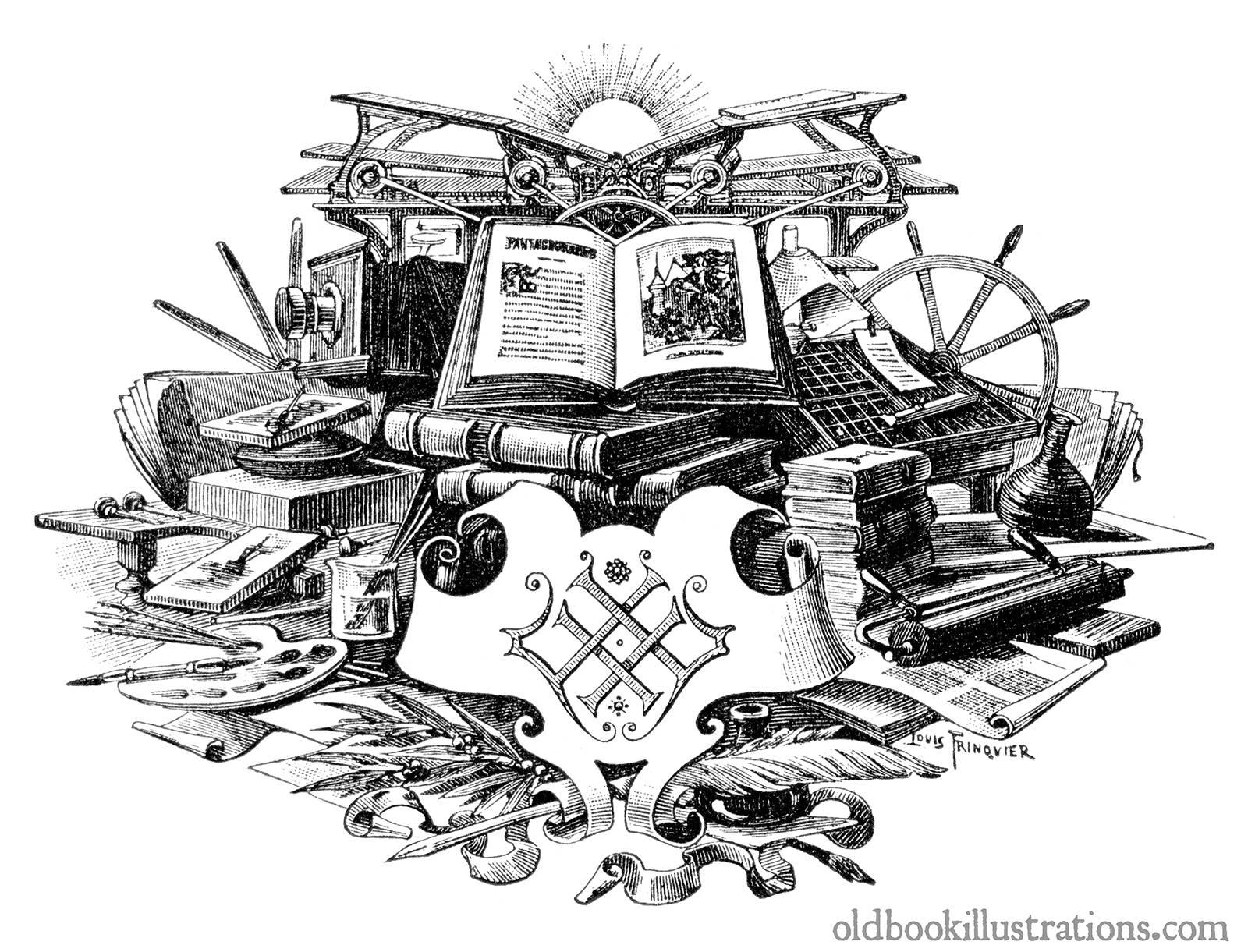 Title Illustration 1  Old Book Illustrations